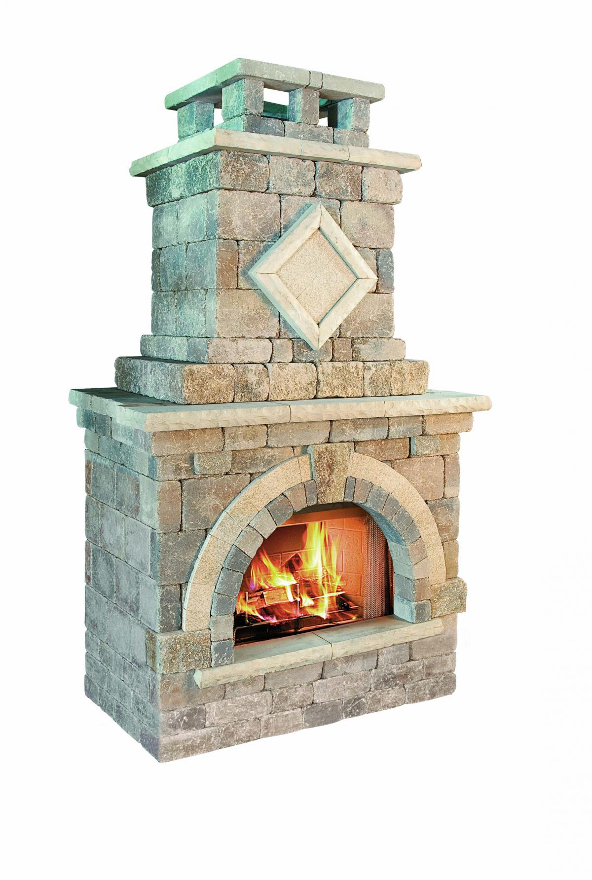 Small outdoor fireplace kits pictures to pin on pinterest for Porch fireplace kit