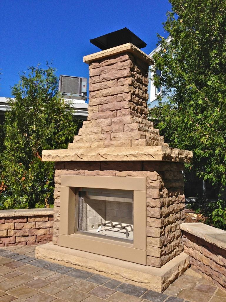 Claremont Fireplace | Outdoor Fireplace Kits | Outdoor ...