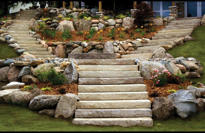 Dimensional Steps Step Treads Pavers Amp Retaining Walls