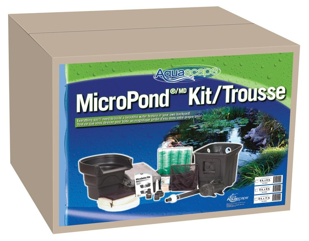 Micropond kit pond kits pond and pondless kits water for Garden pond kit