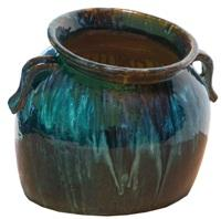Blue Slanting Jar