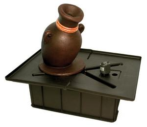 European Terra Cotta Leaning Vase Fountain Kit