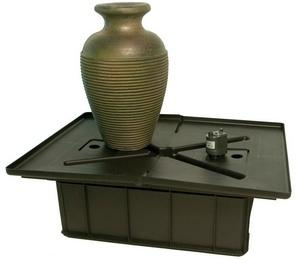 Green Slate Amphora Vase Fountain Kit