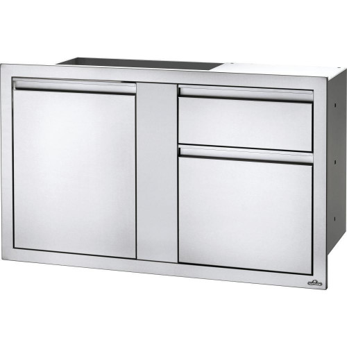 Napoleon 42 or 36-Inch Stainless Steel Large Single Door and Waste Bin Drawer With Paper Towel Holder