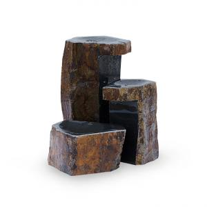 Set of Three Keyed Basalt Columns