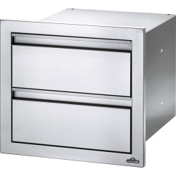 Napoleon 18-Inch Stainless Steel Double Drawer