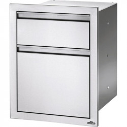 Napoleon 18-Inch Stainless Steel Large and Standard Double Drawer