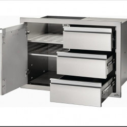 Napoleon 42 or 36-Inch Stainless Steel Single Door and Triple Drawer